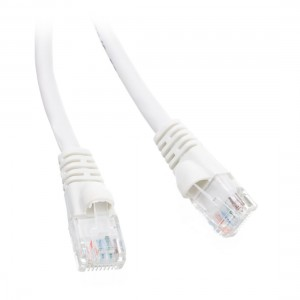 C&E® 1 feet cat6 AWG24 Snagless Molded Boot Ethernet Patch Cable White