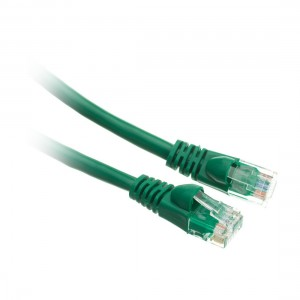 C&E® 1 feet cat6 AWG24 Snagless Molded Boot Ethernet Patch Cable Green