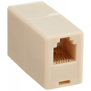 CableWholesale RJ11/RJ12, 6P6C Straight Telephone Inline Coupler (MC-6P6C-RE)