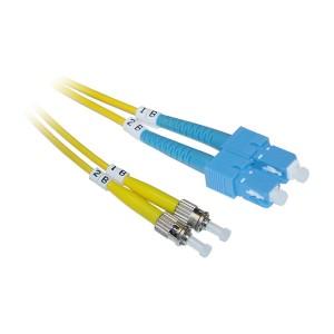 C&E® SC/ST 1-Meter Single Mode Duplex Fiber Optic Cable 9/125, (CNE74047)