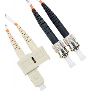 C&E® SC/ST 4-Meters Multimode Duplex Fiber Optic Cable 62.5/125, (CNE74221)