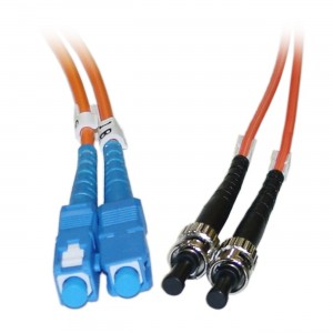 C&E® SC/ST 30-Meters Multimode Duplex Fiber Optic Cable 62.5/125, (CNE74290)