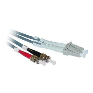 C&E® LC/ST 1-Meter Multimode Duplex Fiber Optic Cable 50/125, (CNE73231)