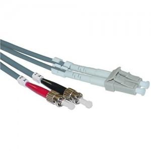 C&E® LC/ST 2-Meters Multimode Duplex Fiber Optic Cable 50/125, (CNE73248)