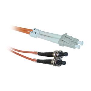 C&E® LC/ST 10-Meters Multimode Duplex Fiber Optic Cable 62.5/125, (CNE73354)