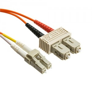 C&E® LC/SC 2-Meters Multimode Duplex Fiber Optic Cable 50/125, (CNE72845)