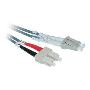 C&E® LC/SC 5-Meters Multimode Duplex Fiber Optic Cable 50/125, (CNE72876)