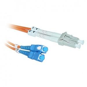 C&E® LC / SC; Multimode; Duplex Fiber Optic Cable; 62.5/125; 20 meter(CNE73057)