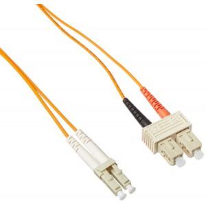C&E® LC / SC; Multimode; Duplex Fiber Optic Cable; 62.5/125; 25 meter(CNE73064)