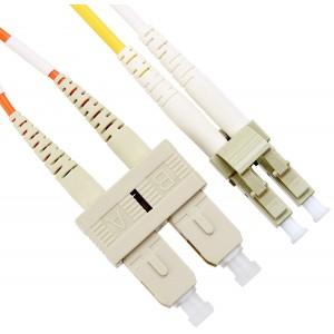 C&E® LC / SC; Multimode; Duplex Fiber Optic Cable; 62.5/125; 10 Meter(CNE73026)