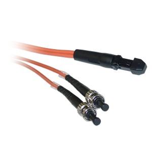 C&E® MTRJ/ST 3-Meters Multimode Duplex Fiber Optic Cable 62.5/125, (CNE73538)