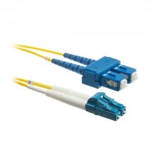 C&E® LC/SC 2-Meters Single Mode Duplex Fiber Optic Cable 9/125, Yellow (CNE72739)