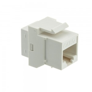 CableWholesale CAT5E, RJ45 Inline Keystone Coupler, White (310-220WH)