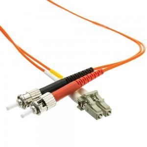 LC/ST OM1 Multimode Duplex Fiber Optic Cable, 62.5/125, 25 Meter (82 Foot)