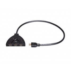 C&E® CNE26210 HDMI 3-in-1 Out Auto Switch with 1.5 Feet Cable