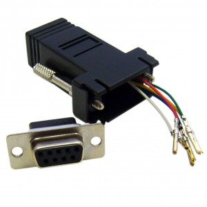 C&E® CNE34734 Modular Adapter, Black, DB9 Female to RJ12 Jack
