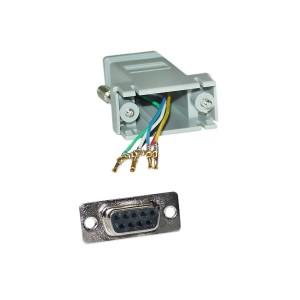 C&E® CNE34727 Modular Adapter, Gray, DB9 Female to RJ12 Jack