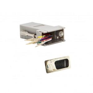 C&E® CNE34741 Modular Adapter, Gray, DB9 Male to RJ45 Jack