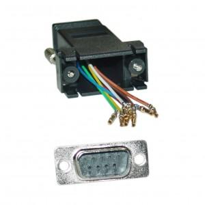 C&E® CNE34758 Modular Adapter, Black, DB9 Male to RJ45 Jack