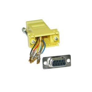 C&E® CNE34819 Modular Adapter, Yellow, DB9 Female to RJ45 Jack