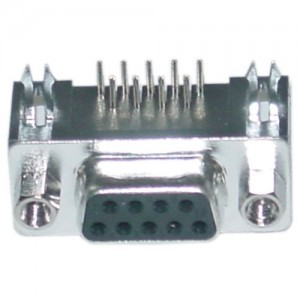 C&E® CNE34956 DB9 Right Angle Female Connector, Solder Type