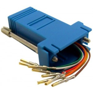 C&E® CNE35410 Modular Adapter, Blue, DB9 Female to RJ45 Jack