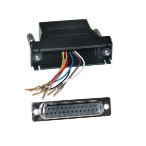 C&E® CNE35434 Modular Adapter, Black, DB25 Male to RJ45