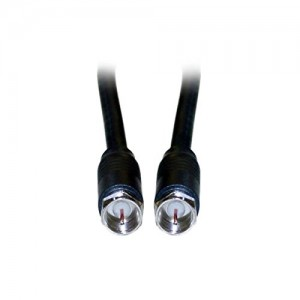 C&E® CNE40872 3-Feet, F-Pin RG6 Coaxial Cable, F-Pin Male, UL Rated, Black