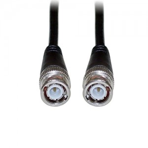 C&E® CNE40711 50-Feet BNC RG58/AU Coaxial Cable, BNC Male, Copper Stranded Center Conductor, Black