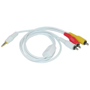 C&E® CNE40162 6 Feet 3.5mm AV Audio Video Cable for iPod