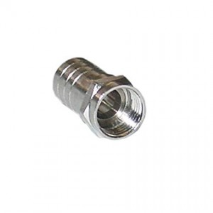 C&E® CNE41886 RG6 F-Pin Coaxial Crimp On Connector with Long Barrel