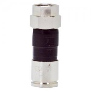 C&E® CNE41909 RG6 F-Pin Compression Connector, Quad and Dual Shield Compatible