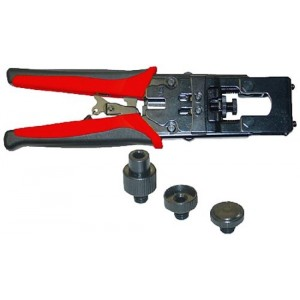 C&E® CNE41701 Coaxial Compression Tool, F-Pin, BNC and RCA (RG59 and RG6)