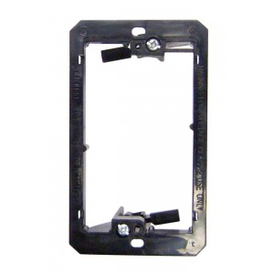 C&E® CNE41688 Wall Plate Mounting Bracket, Nylon, Low Voltage, Single Gang