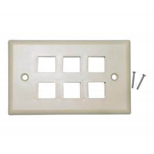 C&E® CNE41541 Keystone Wall Plate, Beige, 6 Hole, Single Gang