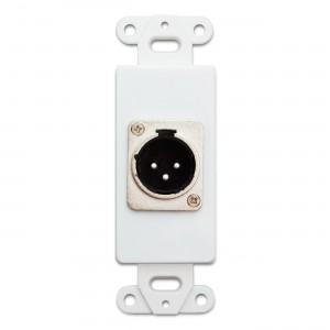 C&E® CNE41398 Decora Wall Plate Insert, XLR Female To Solder Type, White