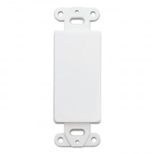 C&E® CNE41404 Decora Wall Plate Insert, White, Blank
