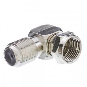 C&E® CNE41244 F-Pin Right Angle Adapter, F-Pin Female to F-Pin Male
