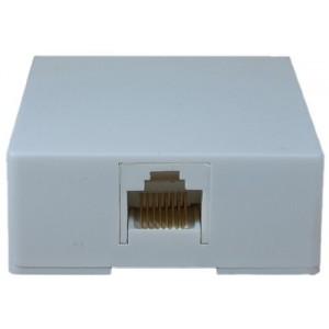 C&E® Phone RJ45 Data / Voice 8 Pin 8 Conductor Surface Mount Jack, White (CNE43828)