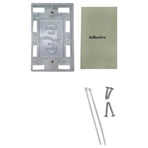 C&E® Single Gang Surface Mount Box, White (CNE43781)