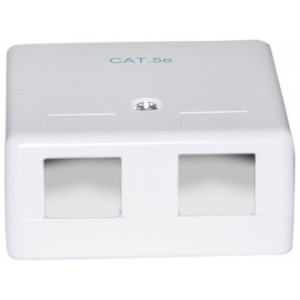 C&E® Blank Surface Mount Box for Keystones, 2 Hole, White (CNE43736)