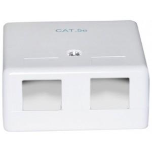 C&E® Blank Surface Mount Box for Keystones, 2 Hole, White (CNE43736)