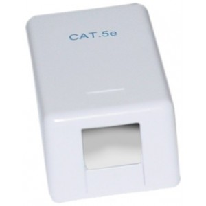 C&E® Blank Surface Mount Box for Keystones, 1 Hole, White (CNE43743)
