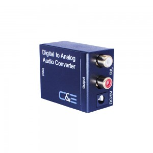 C&E® Digital Optical Coax to Analog R/L Audio Converter CNE77338