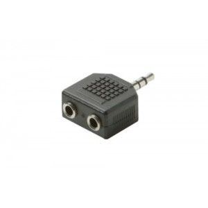 C&E® CNE53678 2-3.5mm Jack to 3.5mm Plug Stereo Adapter