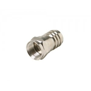 C&E® CNE52961 F Hex Crimp Connector RG6/Quad