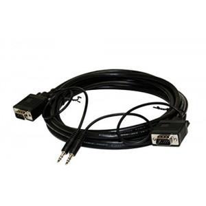 C&E® CNE57980 25 Feet, SVGA DE15HD and 3.5MM Stereo M/M Monitor/Audio Cable, Black