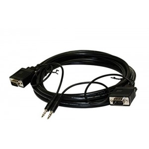 C&E® CNE57942 100 SVGA DE15HD and 3.5mm Stereo M/Monitor/Audio Cable, Black