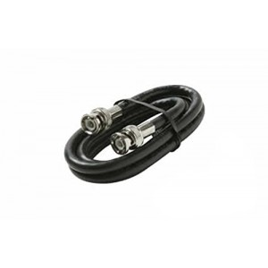 C&E® CNE57157 25 Feet BNC-BNC RG6 Patch Cable UL, Black