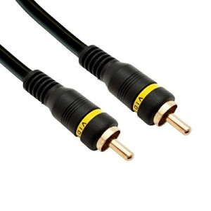 RCA Male to Male Cable, Gold Plated 50 Feet Black, CNE59656